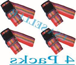 Travel Luggage Suitcase Strap 4 Pcs.Rainbow Color Belt Bagga