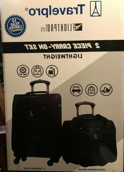 "Travel Pro 2 Piece Carry-On Luggage Set 21"" &  Spinner Under"