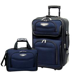 Travel Select Navy Amsterdam 2p Carry-on Expandable Rolling