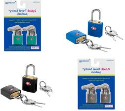 Travel Smart Luggage Lock 2 Pack Choose Color