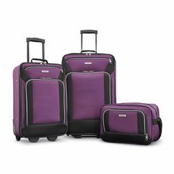Traveler 3-Piece  A Carry-On & 2 Upright Luggage Set Purple