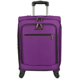 """Traveler Choice Purple 22"""" Carry-On Soft Expandable Spinner"""