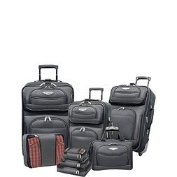 Traveler's Choice Amsterdam II 8 Piece Luggage Set in Grey