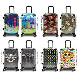 "Traveler's Choice Fancy Print 22"" Carry-on Expandable Spinne"