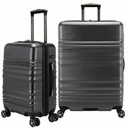 Traveler's Choice Pomona 2-piece Hardside Luggage Set, Gray