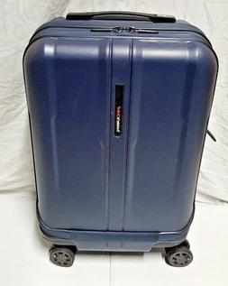 "TRAVELER'S CHOICE WHEELED 22"" HARDSIDE CARRY ON BLU DUAL ACC"