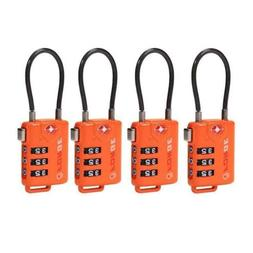 TSA Approved Cable Luggage Locks, Re-settable Combination Bo
