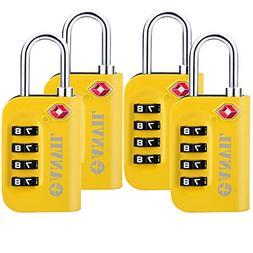 TSA Luggage Locks - 4 Digit Combination Steel Padlocks - App