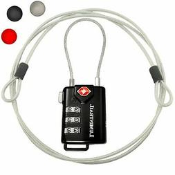Lumintrail TSA Security 3 Dial Combination Lock Padlock Trav