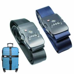 TSA Travel Luggage Strap with 3 Dial Approved Lock Adjustabl