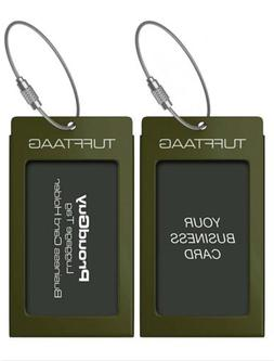 TUFFTAAG Metal Luggage Tags Military Bag Tag Card Holder Dar