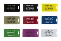 Four Custom Engraved Plastic Luggage Tags-Nine Color Options