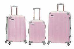 Rockland Two-Tone Expandable 3-Piece Hardside Spinner Uprigh