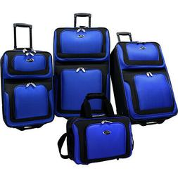 U.S. Traveler New Yorker 4-Piece Luggage Set 4 Colors