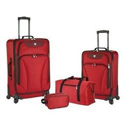 Travelers Club Unisex  Augusta 4-Piece Soft Side Luggage Set