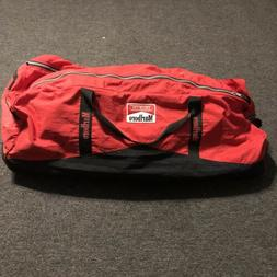 Marlboro Unlimited EXTRA LARGE Red Black Rolling Duffle Bag