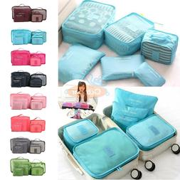 US 6X/Set Waterproof Luggage Clothing Travel Storage Bags Pa