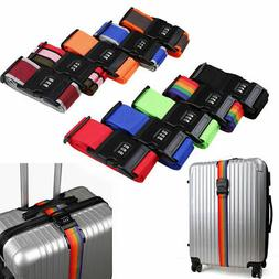 US Password Strap Lock Luggage Suitcase Coded Cross Belt Loc