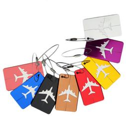 US STOCK Travel Aluminium Plane Luggage Tags Label Name Addr