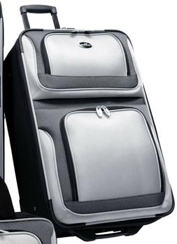 "US Traveler New Yorker Silver Gray 25"" Rolling Luggage Light"