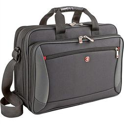 "Wenger Luggage Mainframe 15.6"" Laptop Brief Bag, Black One S"