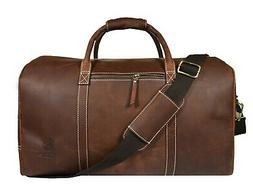 Vintage Leather Duffle Bag Mens Overnight Weekend Travel Lug