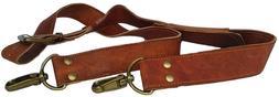 Vintage Leather Replacement Shoulder Strap For Briefcase Lug