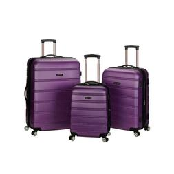 Wheeled Travelling Chest in Purple Finish with Three Pieces
