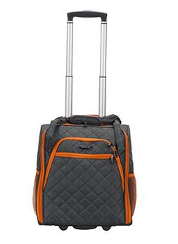 Wheeled Underseat Carry On Luggage in Charcoal