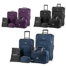 Elite Luggage Whitfield 5-Piece Softside Lightweight Rolling