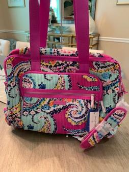 wildflower paisley travel carry on luggage duffel