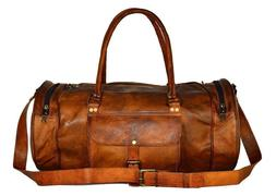 Women's New Vintage Leather Travel Luggage Duffel Shoulder G