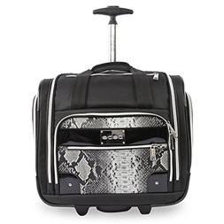 BEBE Women's Tiana-Wheeled Under The Seat Carry On Bag, Blac