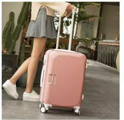 """Women Travel Luggage 20""""24""""26"""" Abs+Pc Boarding Rolling On Wh"""