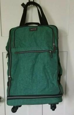 """Biaggi ZipSak 27"""" Green Micro-Fold Spinner Duffle Luggage"""