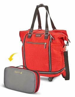 Biaggi Luggage Zipsak Microfold Spinner Fashion Tote, 20-Inc