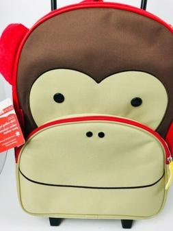 Skip Hop Zoo Kids Rolling Luggage - Monkey